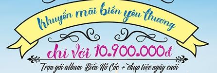 Khuyến mãi chụp album cưới Hồ Cốc